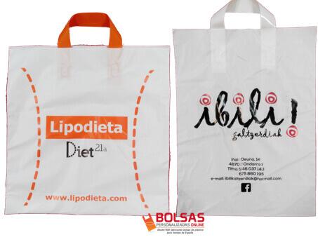 Bolsas personalizadas de plastico asa lazo